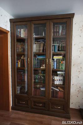 Шкаф книжный из массива дуба в городе тольятти - портал выго.