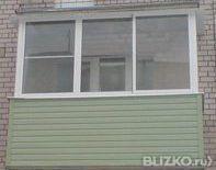 Балкон 6 м (6 ств.) алюминиевые раздвижные+профнастил от ком.