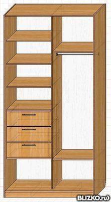 Угловой шкаф купе в спальню на заказ от компании гауди мебел.