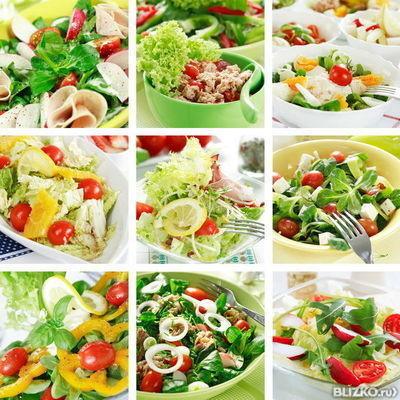 Современные рецепты салатов с фотографиями